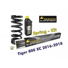 Resortes progresivos de intercambio para horquilla y tubo amortiguador, Tiger 800 XC / XCx / XCa 2016-2018 muelles de intercambio