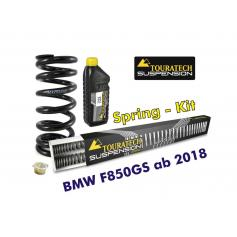 Resortes progresivos de intercambio para horquilla y tubo amortiguador, BMW F850GS desde el año 2018