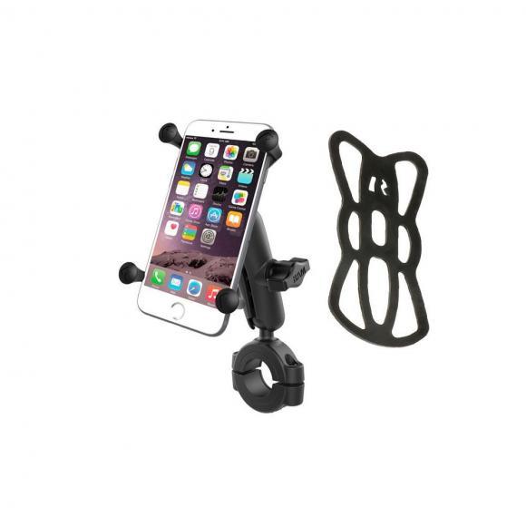 Soporte universal teléfono RAM® X-Grip® con kit de sujección barra de manillar y cuna X-Grip® para tablets o smartphone