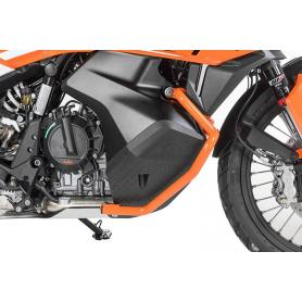 Estribo de protección del depósito de acero inoxidable, naranja para KTM 790 Adventure/ 790 Adventure R