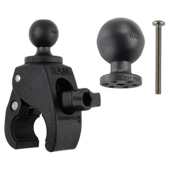 "RAM Small Tough-Claw con bolas de goma de 1,5 ""y 1"" de diámetro"