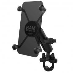 Soporte para teléfono RAM® X-Grip® grande de brazo estándar con agarre en U para manillar