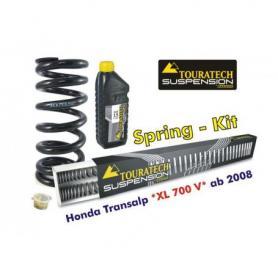 Muelles progresivos de intercambio Hyperpro para horquilla y tubo amortiguador, Honda Transalp '08