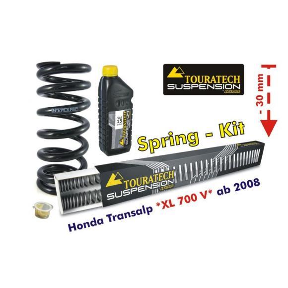 Ajuste de suspensión inferior en 30mm Honda XL700V Transalp desde el año 2008