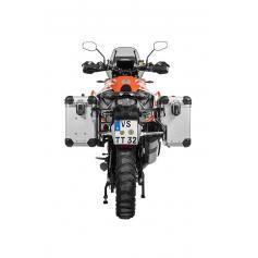 Sistema Zega Evo X para KTM 1050 Adv / 1090 Adv / 1290 Super Adv / 1190 Adv / 1190 Adv R con escotadura para tubo de escape