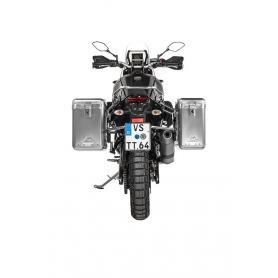 ZEGA Mundo sistema de maletas 31/38 litros con soporte acero fino para Yamaha Tenere 700