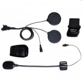 Kit de abrazadera para casco con conector de tipo de bloqueo - Micrófono con brazo acoplable