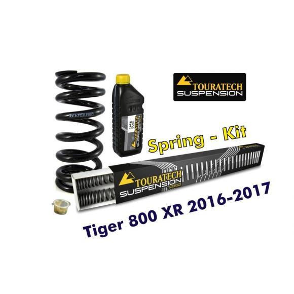 Resortes progresivos de intercambio para horquilla y tubo amortiguador, Tiger 800 XR / XRt / XRx 2016-2017