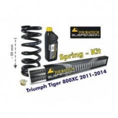 Ajuste de suspensión en 50mm Triumph Tiger 800XC 2011-2015 *muelles de intercambio*