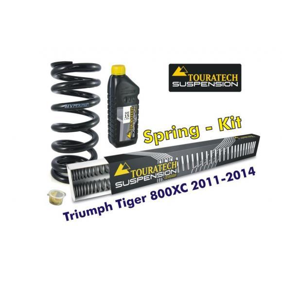 Muelles progresivos de intercambio para horquilla y tubo amortiguador Triumph Tiger 800XC 2011-2014