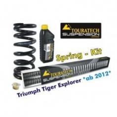 Muelles progresivos de intercambio Hyperpro para horquilla y tubo amortiguador,Triumph Tiger Explorer *desde el año 2012*