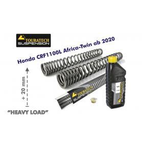 "Muelles de horquilla progresivos para Honda CRF1100L Africa Twin +20mm ""Heavy Load"""
