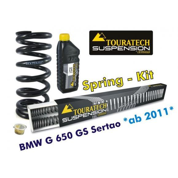 Muelles progresivos de intercambio para horquilla y tubo amortiguador, BMW G650GS Sertao desde el año 2011