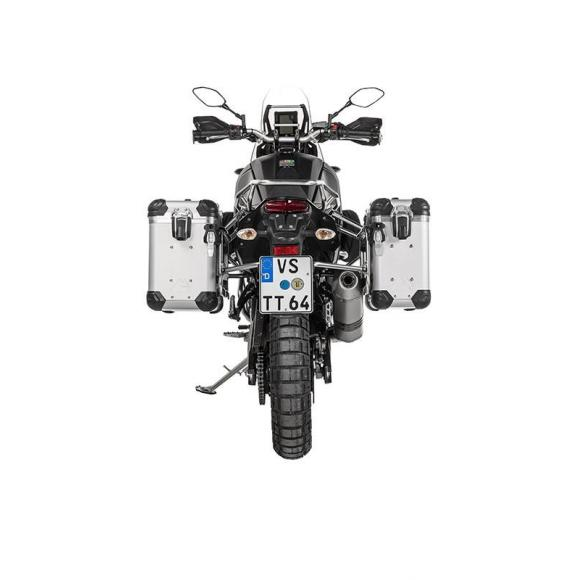 "ZEGA Evo sistema de maletas ""And-S"" 31/38 litros con soporte acero fino para Yamaha Tenere 700"