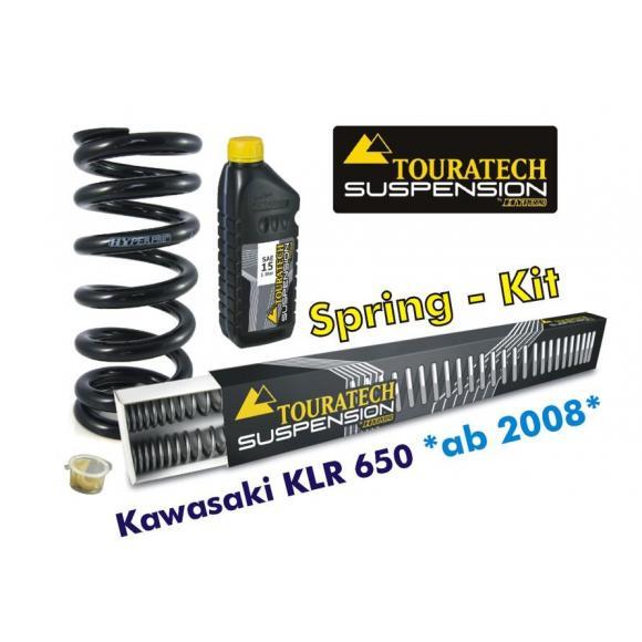Muelles progresivos de intercambio Hyperpro para horquilla y tubo amortiguador para Kawasaki KLR650 desde 2008