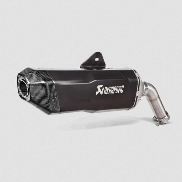 Escape Akrapovic slip-on, titanio, negro para BMW F850GS / Adventure y F750 GS de 2018