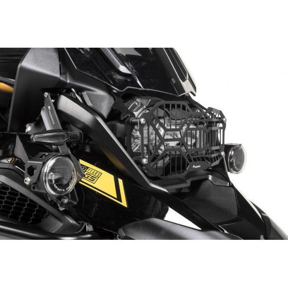 Protector de faro de acero inoxidable negro, con cierre rápido para faro LED, para BMW R1250GS / GS Adv
