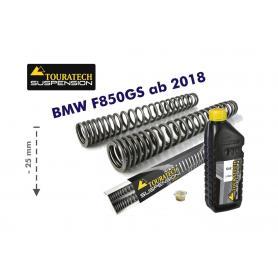 Muelles de horquilla progresivos para BMW F850GS / BMW F850GS Adventure de 2018 con reducción de -25 mm