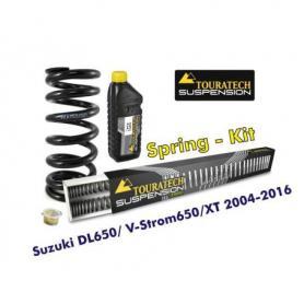 Muelles progresivos de intercambio para horquilla y tubo amortiguador Suzuki DL 650/V-Strom 650/XT 2004-2016