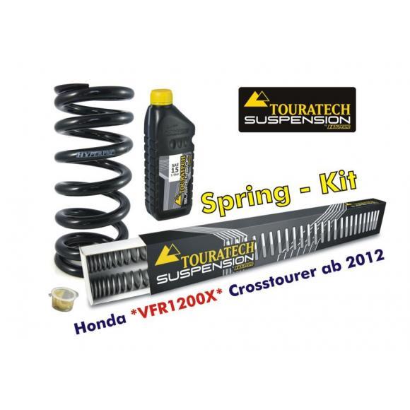Muelles progresivos de intercambio Hyperpro para horquilla y tubo amortiguador,Honda VFR1200X Crosstourer *desde el año 2012*