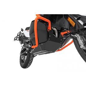 Protección de motor RALLYE Evo, aluminio natural / aluminio negro para KTM 790 Adventure / 790 Adventure R