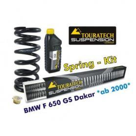 Muelles progresivos de intercambio para horquilla y tubo amortiguador BMW F650GS Dakar desde el año 2000