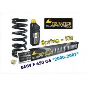 Muelles progresivos de intercambio Hyperpro para horquilla y tubo amortiguador,BMW F650GS *2000-2007*