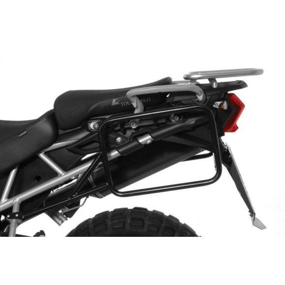 Portamaletas de acero para Triumph Tiger 800/ 800XC/ 800XCx, negro