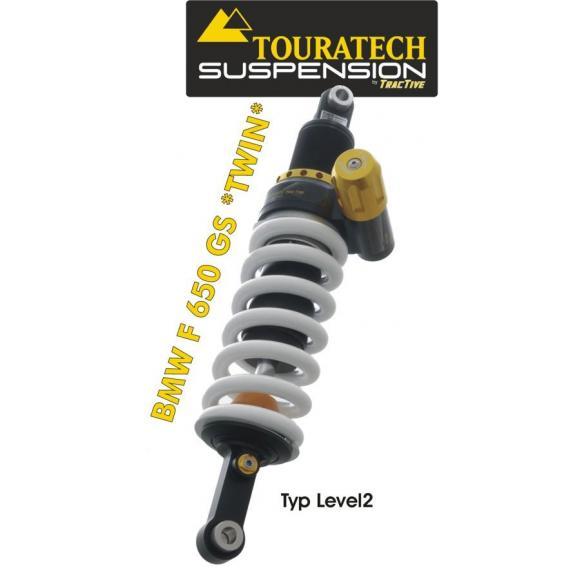 Touratech Tubo amortiguador de la suspensión para BMW F650GS (Twin) 2008 tipo Level2/ExlporeHP