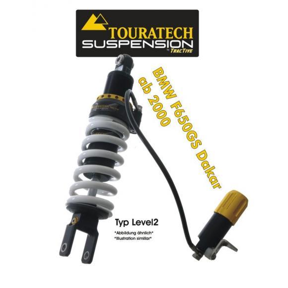 Touratech Tubo amortiguador de la suspensión para BMW F650GS DAKAR a partir de 2000 tipo level2/ExploreHP