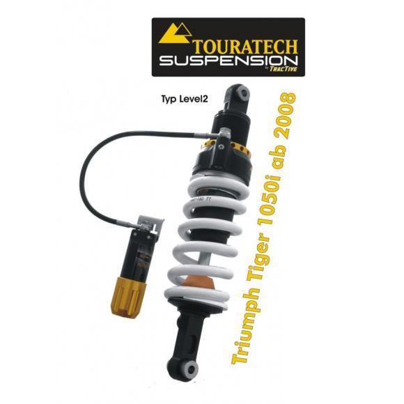 Touratech Tubo amortiguador de la suspensión para Triumph Tiger 1050i a partir de 2008 tipo level2/ExploreHP