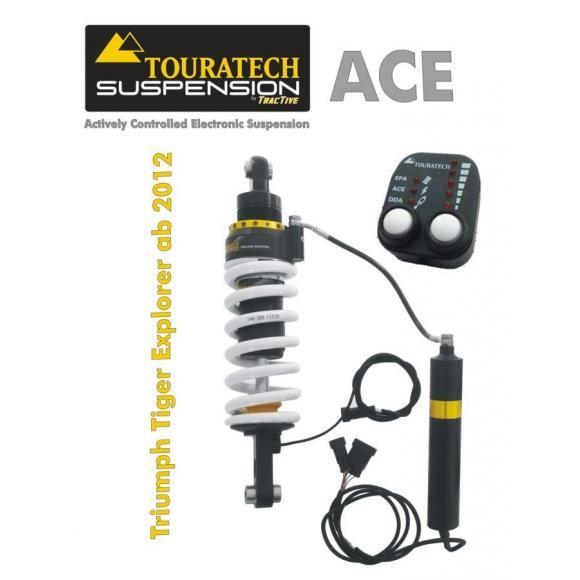 Tubo amortiguador de Touratech Suspension ACE para Triumph Explorer desde 2012 modelo Expedition