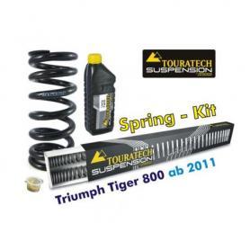 Muelles progresivos de intercambio Hyperpro para horquilla y tubo amortiguador, Triumph Tiger 800 desde el año 2011