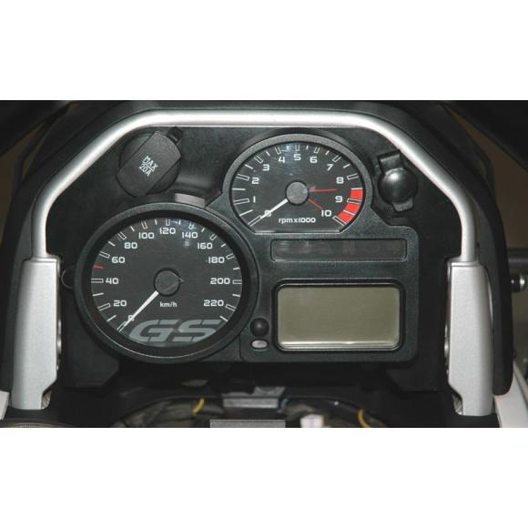 Embellecedor del cuadro de instrumentos con 2 tomas de enchufe para BMW R1200GS (2008-2012)/ R1200GS Adventure (2008-2013)
