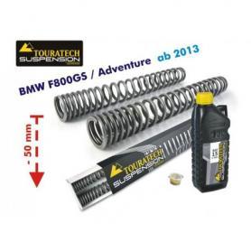Muelles de horquilla progresivos para BMW F800GS / Adventure desde 2013 ajuste de suspensión inferior en 50mm