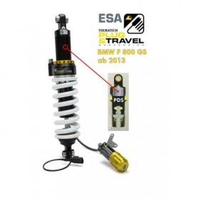Tubo amortiguador Touratech Suspension para BMW F800GS a partir del 2013 Tipo: Plug & Travel para sistema ESA
