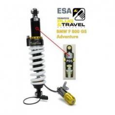 Tubo amortiguador Touratech Suspension para BMW F800GS Adventure a partir del 2014 Tipo: Plug & Travel para sistema ESA de BMW