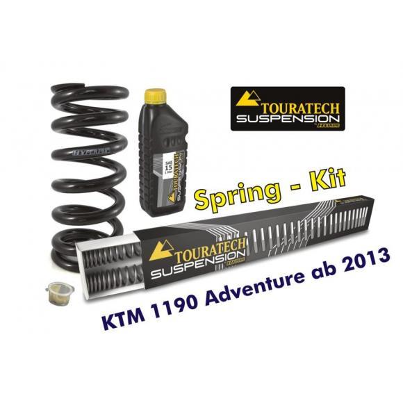 Muelles progresivos de intercambio para horquilla y tubo amortiguador, KTM 1190 Adventure desde el año 2013 sin EDS