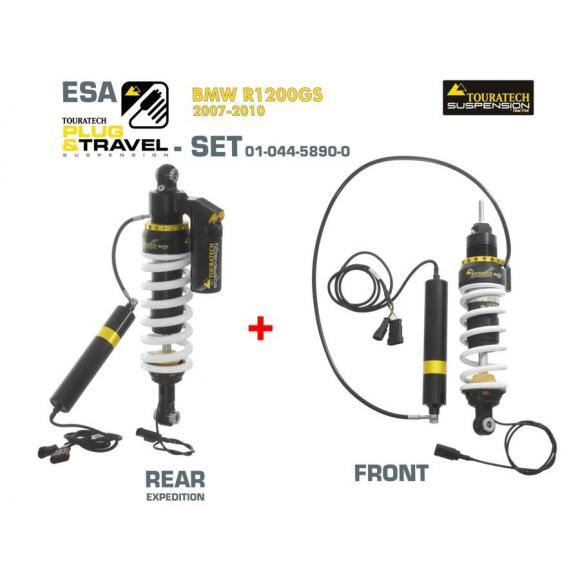 Tubo amortiguador TRASERO Touratech Suspension Plug & Travel ESA Expedition para BMW R1200GS /ADV (2007-2010)