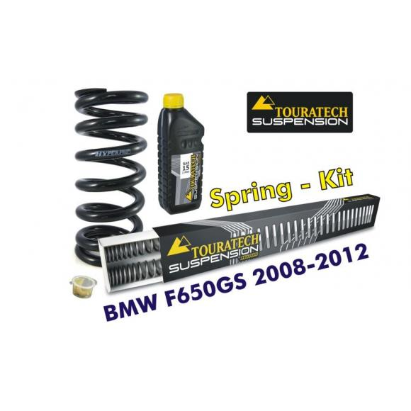 Muelles progresivos de intercambio para horquilla y tubo amortiguador, BMW F650GS (TWIN) 2008-2012