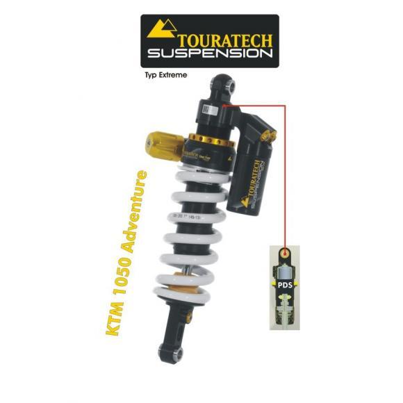 Tubo amortiguador de la suspensión Touratech para KTM 1050ADV / 1090ADV a partir de 2015 modelo Extreme