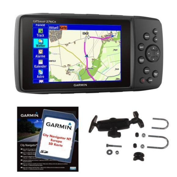 Garmin GPSMAP 276Cx Set incl. City Navigator NT Europa y RAM-Mount