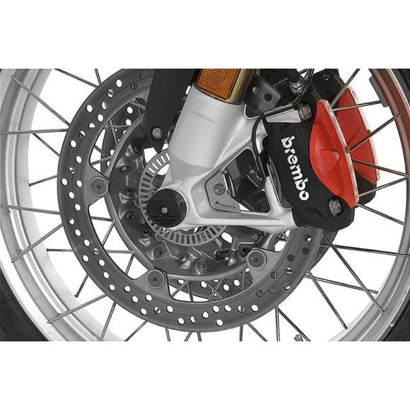 Set de protectores de caídas para el eje delantero de BMW R1250GS y Adv / R1200GS (LC) y Adv (LC) / R1250RT / R1200RT (LC)