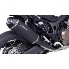 Silenciador final Remus Okami de acero inoxidable, negro para Honda CRF1000L Africa Twin 2017, slip-on con homologación ABE