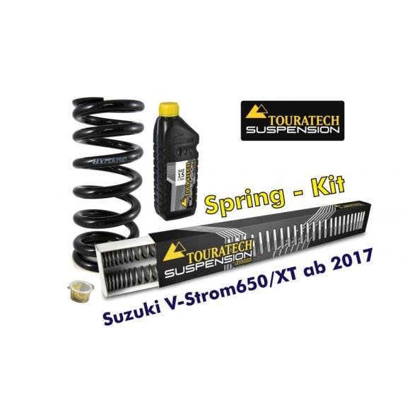 Muelles progresivos de intercambio para horquilla y tubo amortiguador, Suzuki V-Strom 650/XT desde el año 2017