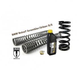 Muelles progresivos de intercambio Black-T para horquilla y tubo amortiguador, BMW RnineT Scrambler/UrbanG/S ab 2015