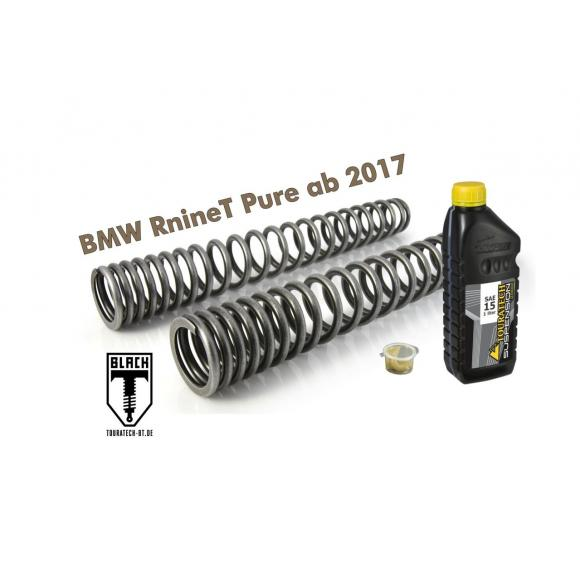 Black-T Muelles de horquilla progresivos para BMW RnineT