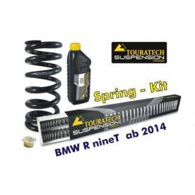 Muelles progresivos de intercambio para horquilla y tubo amortiguador, BMW R nineT desde el año 2014 Touratech Susoension