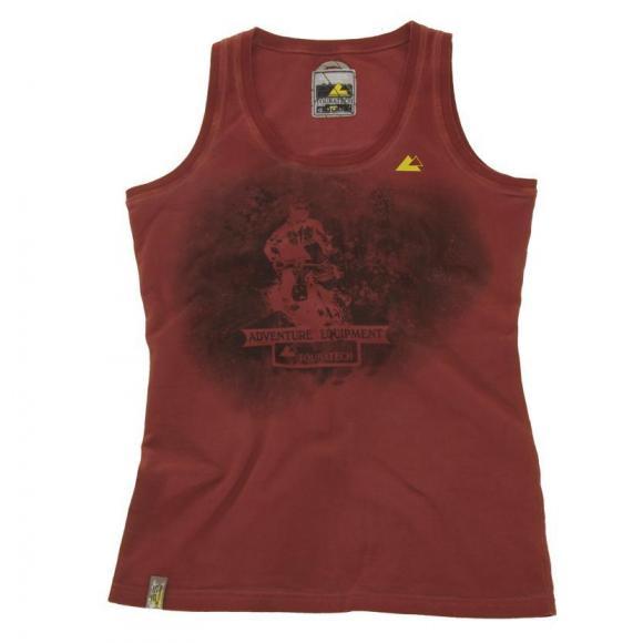 "Camiseta de tirantes ""Retro"", mujer, roja"