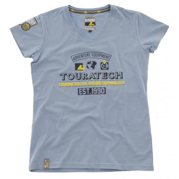 "Camiseta ""Adventure Equipment"", mujer, azul claro"